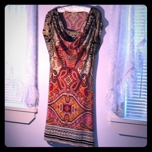 Paisley Geometric lPattern Dress M